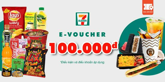 """E-Voucher trị giá 100.000 tại hệ thống cửa hàng 7- Eleven giá chỉ còn <strong class=""""price"""">9.000.000.000đ</strong>"""