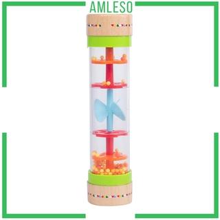 [AMLESO] Rainstick Rainmaker Rain Shaker Sensory Sound Rattle Activity Toy Instrument
