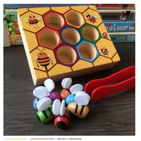 Gắp ong vào tổ - Đồ chơi gỗ