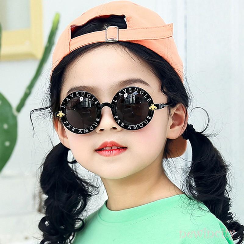 Kính mát gọng tròn thời trang mùa hè dành cho bé trai và bé gái