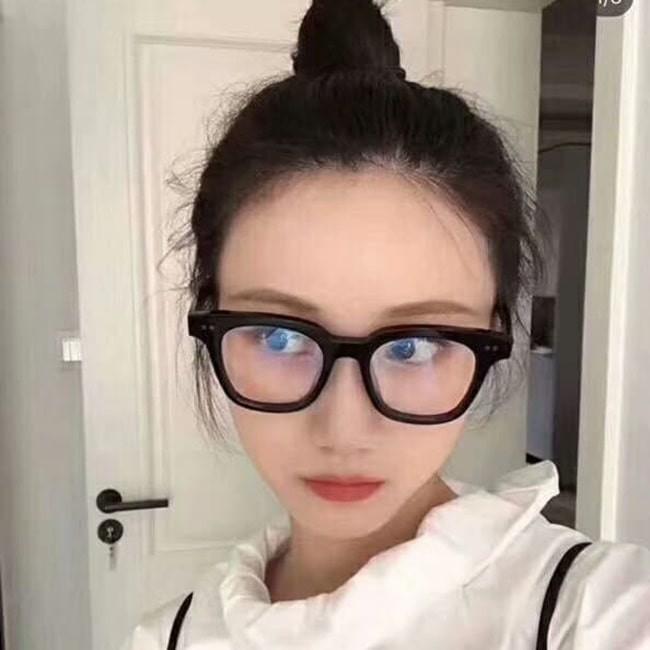 Gọng kính south side chữ v trắng đen - kính mát nam nữ ( thay tròng cận được )