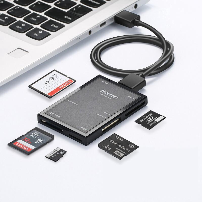 Đầu Đọc Thẻ Nhớ llano LJN-CB1002 USB 3.0 Tốc Độ Cao Đa Năng Cho SD/TF/Micro SD/CF