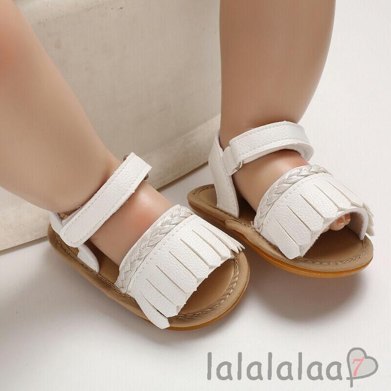❆☉❆Baby Summer Long Tassel Soft Anti-slip Prewalker