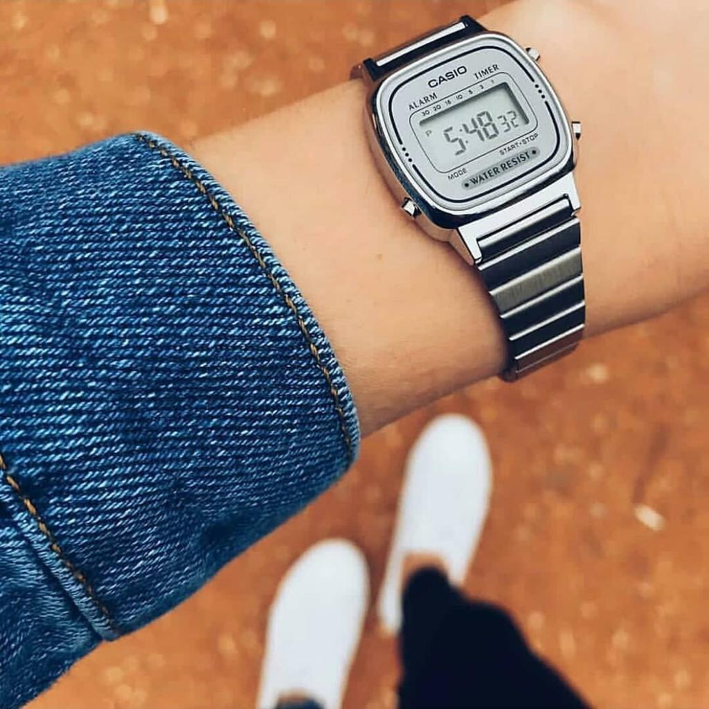 Đồng hồ nữ dây kim loại chính hãng Casio LA670WA-7DF LA670WA-7D