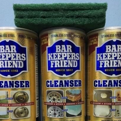 Bột làm sạch thần thánh - Bar keepers friend - sạch kính, vòi, xoong nồi, vết ố,...