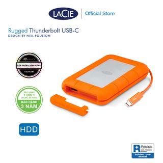 Ổ Cứng Di Động Chống Sốc Lacie Rugged Thunderbolt 2TB, 4TB, 5TB USB-C + Gói cứu dữ liệu thumbnail