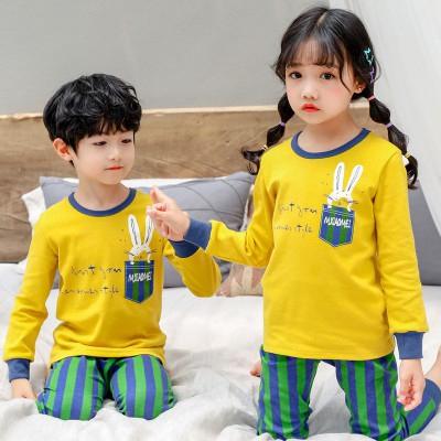 Bộ Đồ Ngủ Cotton In Hình Khủng Long Hoạt Hình Dễ Thương Dành Cho Trẻ Em