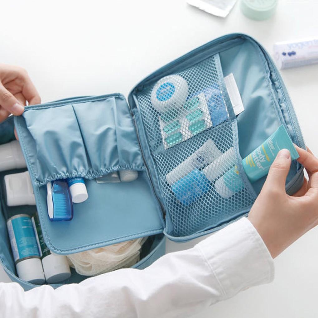 Túi nhiều ngăn đựng đồ trang điểm khi đi du lịch tiện dụng chất lượng cao