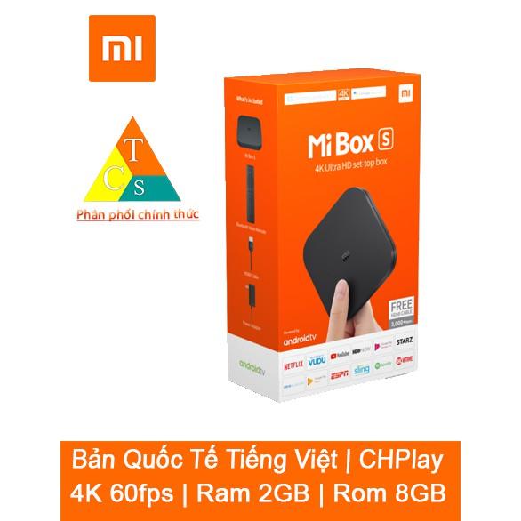 Đầu Android TV MIBOX S 4K QUỐC TẾ  | BH 3 tháng