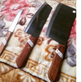 Bộ dao kiwi 3 món cán gỗ thái lan