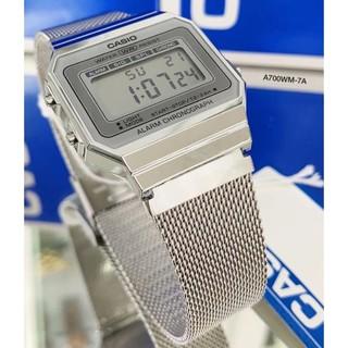 Đồng hồ Unisex dây kim loại CASIO A700WM-7ADF chính hãng