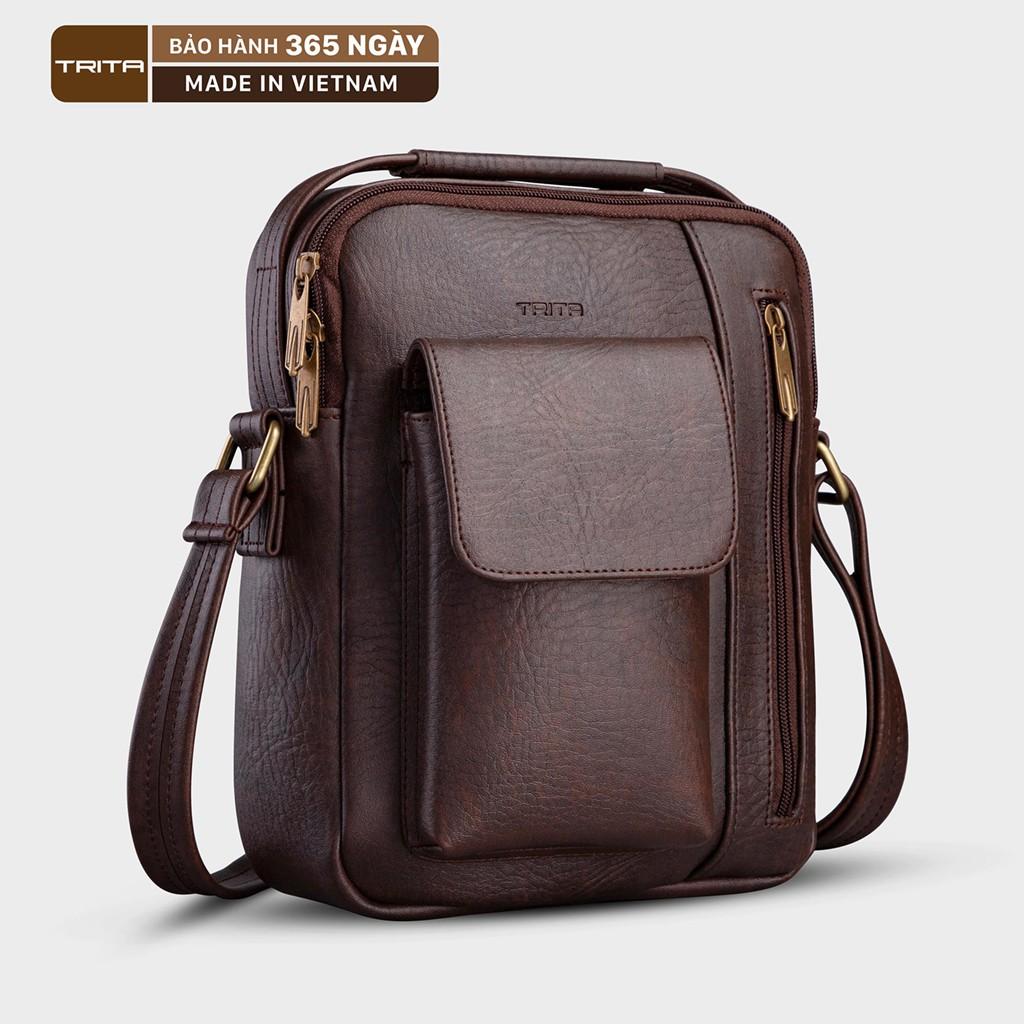 Túi đeo chéo da nam - nữ thời trang TRITA RTN3 nhiều màu