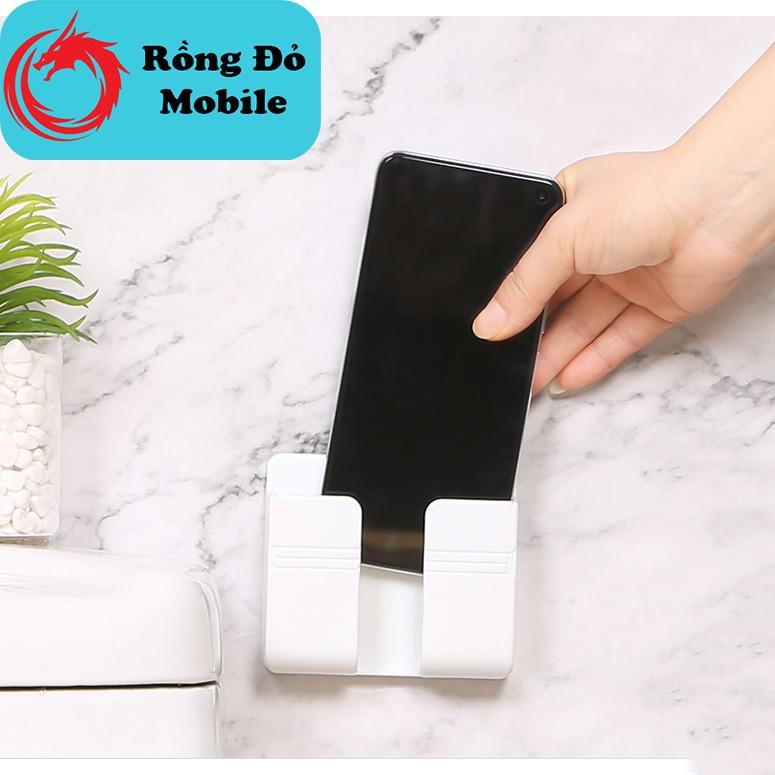 Kệ giá đỡ dán tường treo remote, điều khiển, sạc điện thoại, đầu dây điện tiện lợi giúp không gian gọn gàng