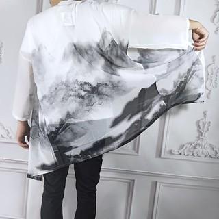 Áo haori/kimoni hoa tiết sơn thủy thủy mặc [Unisex]
