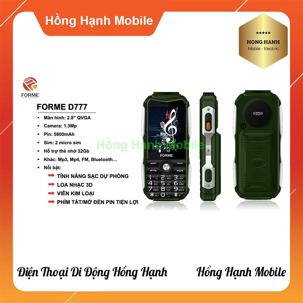 Điện Thoại Forme D777 - Hàng Chính Hãng - Hồng Hạnh Mobile