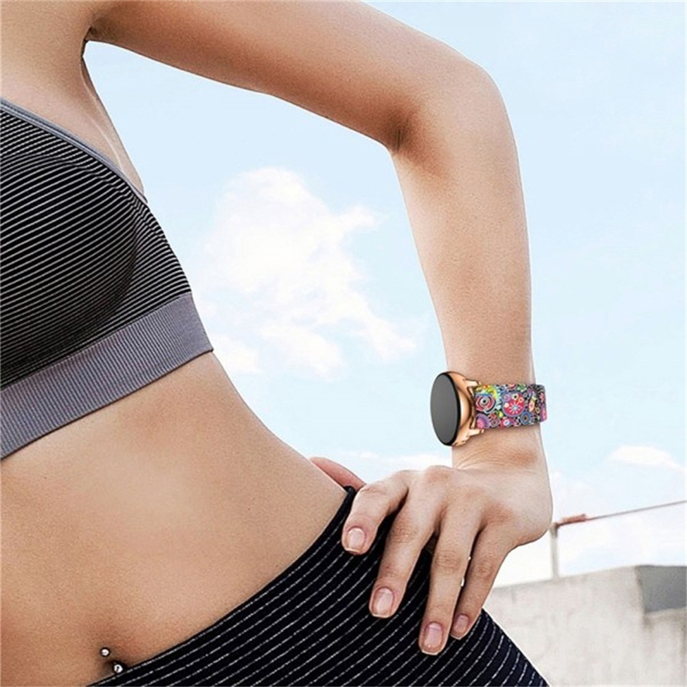 CHINK 20mm Printing Silicone Watch Band Wrist Strap for Samsung Galaxy Watch Active 42mm