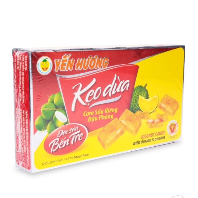 Kẹo Dừa Cơm Sầu Riêng Đậu Phộng Yến Hương 500g
