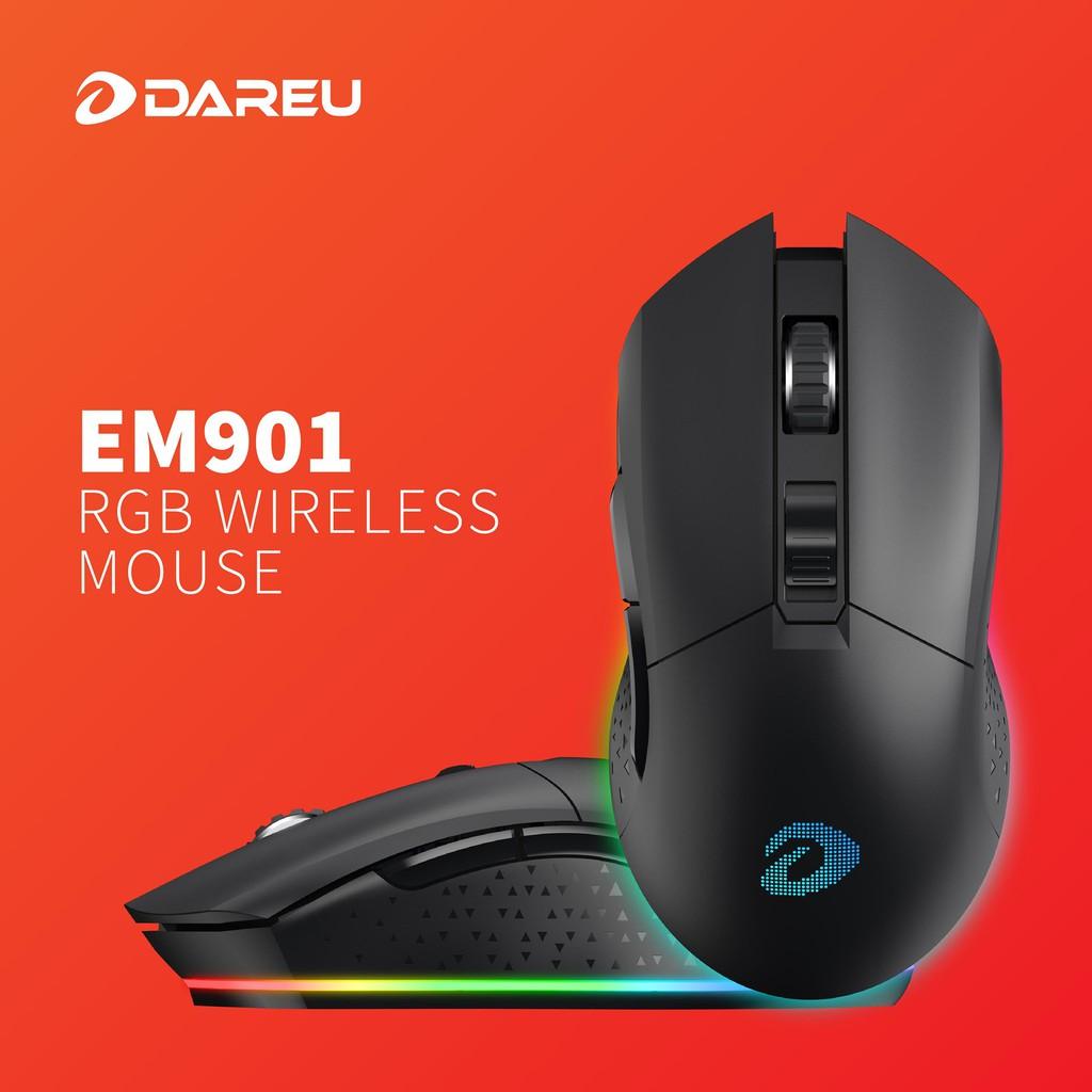 Chuột Không Dây Gaming Dareu EM901 RGB Black - Hàng Chính Hãng BH 2 Năm