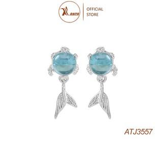 Hoa tai bạc hình đuôi nàng tiên cá đính đá pha lê siêu phẩm 2021 ANTA Jewlery - ATJ3557 thumbnail