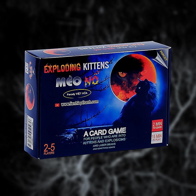 Bộ bài Mèo nổ Exploding Kittens, board game thẻ bài Việt hóa cơ bản chính hãng, chất lượng cao cho 2 – 5 người chơi