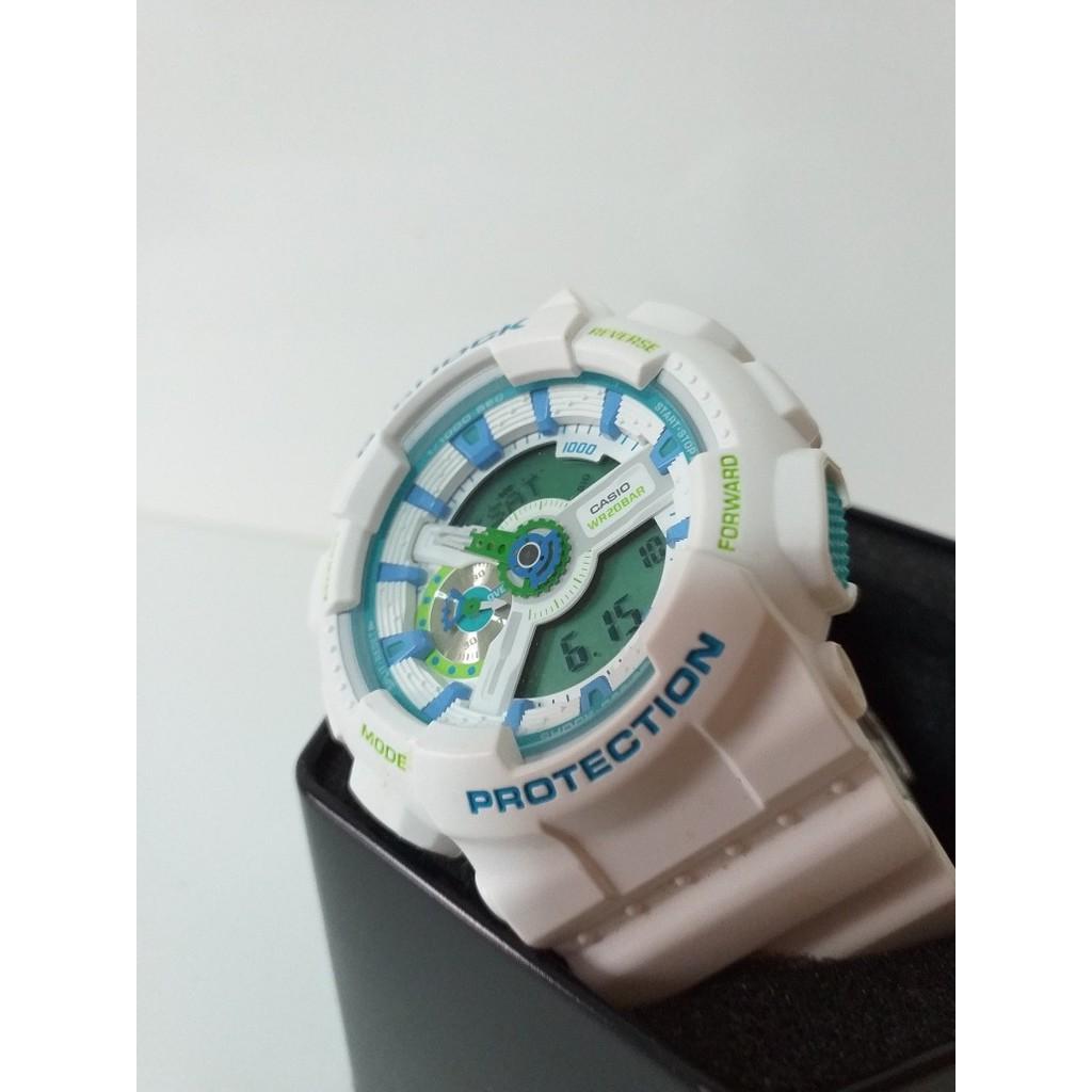 Đồng hồ nam Casio Gsock GA-110WG-7ADR Chính hãng - Dây trắng - Chống nước 200m