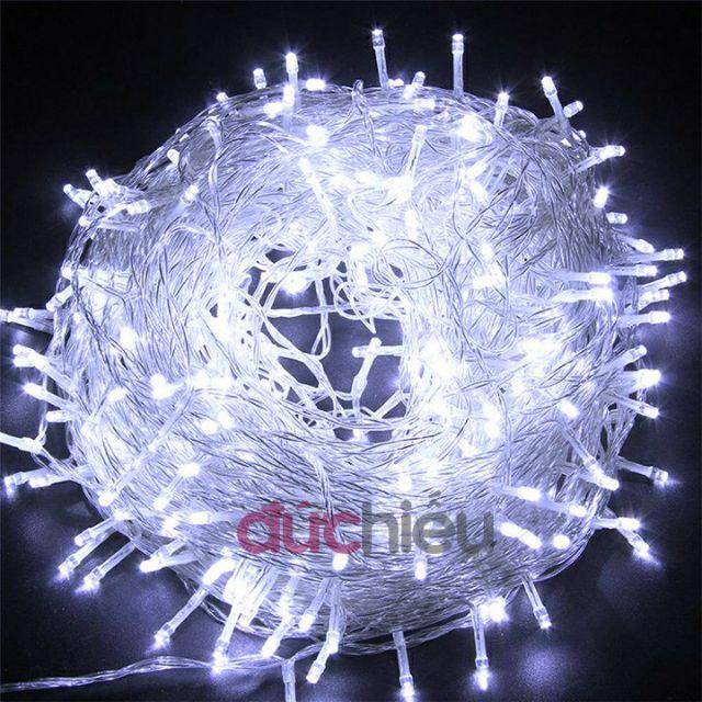 Dây đèn LED trang trí nháy chớp 50m / 100m, trắng, vàng, nhiều màu lắp cây, nhà, sân vườn
