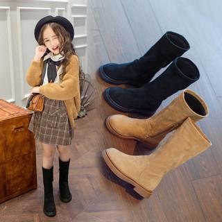 ♥ Giày boot Martin thiết kế mới thời trang mùa đông dành cho bé gái✿(MỚI) Đầm lông cừu cổ cao cho bé gái✿Giày bốt cotton thời trang cá tính