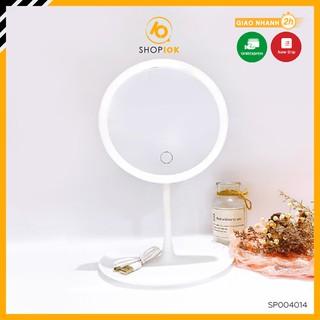 Gương để bàn trang điểm có đèn led cảm ứng SHOP10K – SP004014