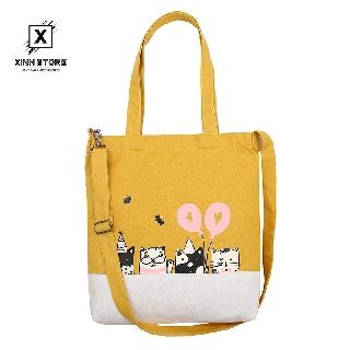 Túi Vải Tote XinhStore Hình Năm Mèo Bóng thumbnail