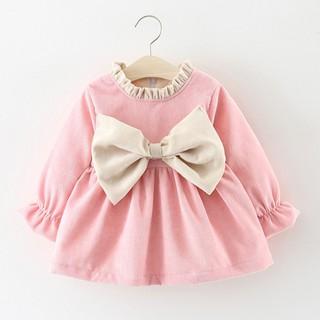 Áo Váy thu đông vải nhung 2 lớp lót nỉ hàng cao cấp cho bé gái
