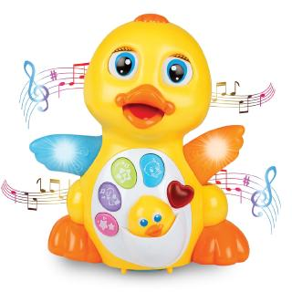 Baby Toy Musical Duck for Boy Girl Gifts with Lights & Adjustable Sound