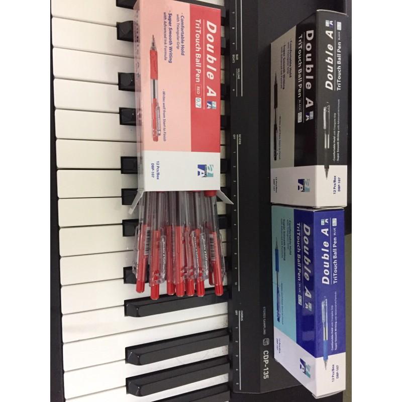 hộp 12 cây bút bi bấm Tritouch Double A DBP-107 ngòi 0.7mm ( sale tết )