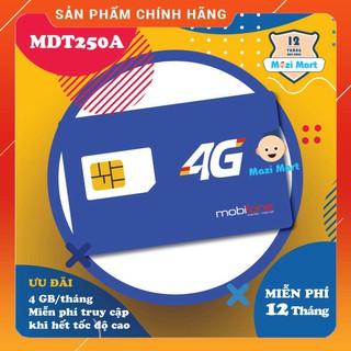 [CHỈ BÁN HÀ NỘI] [CAM KẾT ĐỦ 12 THÁNG] [VT_MaiLinh] Sim 4G Mobifone MDT250A 4Gb/tháng – Trọn gói 12 tháng không nạp tiền