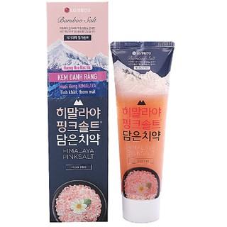 Kem đánh răng Bamboo Salt muối hồng Himalaya hương hoa bạc hà 100g
