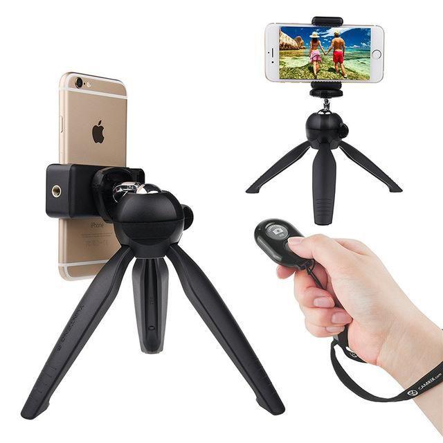 Combo Chân đế máy ảnh , điện thoại Tripod YT228 + Remote Bluetooth