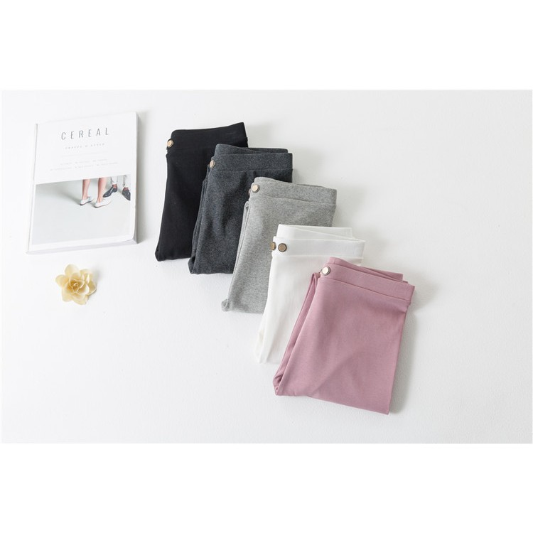 Slub cotton legging