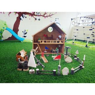 Mô hình nhà gỗ tự nhiên