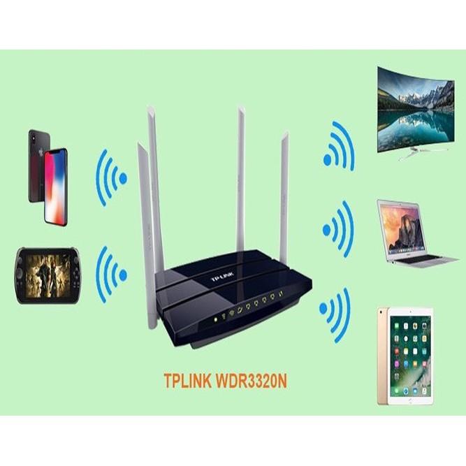 Bộ phát wifi TPLINK 4 râu băng tần kép chuẩn AC 1200 Mbps sóng xuyên tường, Modem wifi - Like New 95%
