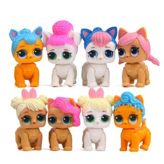 #ReadyStock# 8Pcs/set TY BIG Eyes BABY Doll Gift For Kid Toys