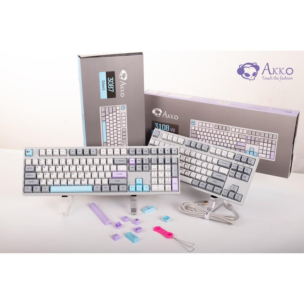 [Mã ELTECHZONE giảm 5% đơn 500K] Bàn phím cơ AKKO 3108 Silent (Akko switch) - Cổng USB