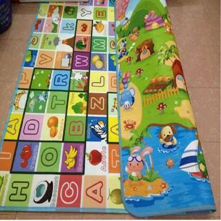 Thảm xốp (1m8 x 2m) hai mặt cho bé vừa học vừa chơi