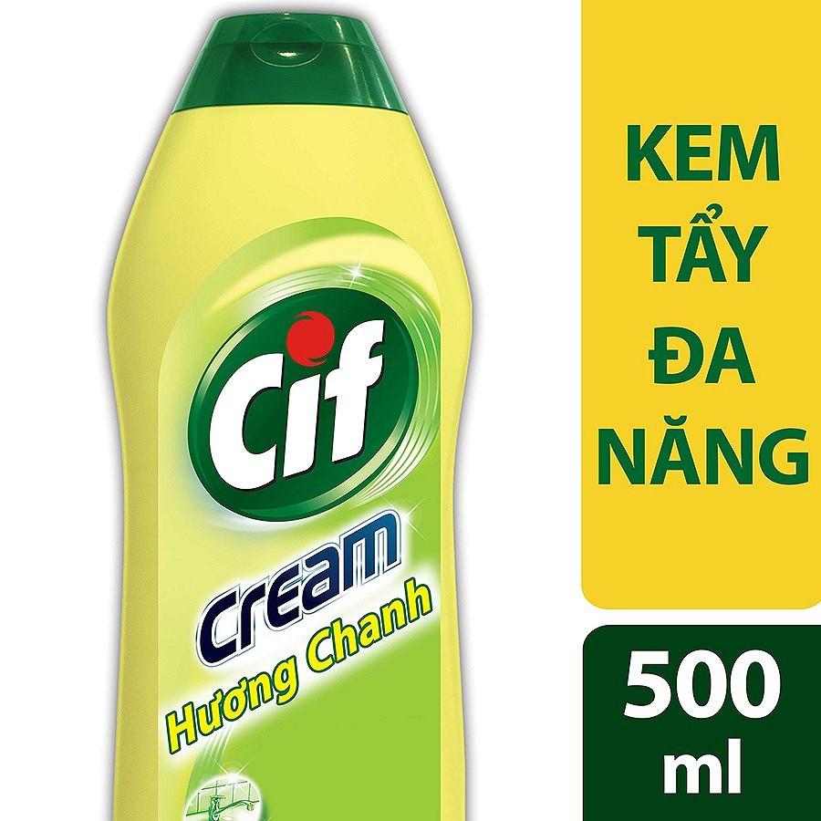 Kem Tẩy Đa Năng Cif Hương Chanh (500ml) (MSP 21105373)