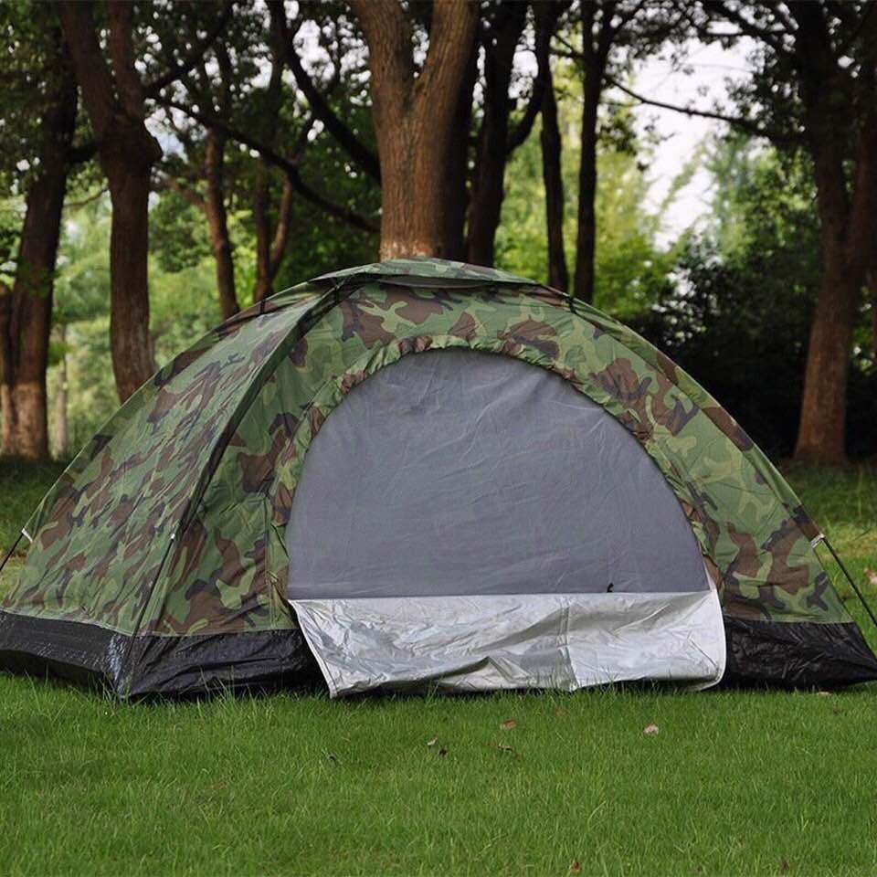 lều cắm trại vải dù rằn ri cao cấp
