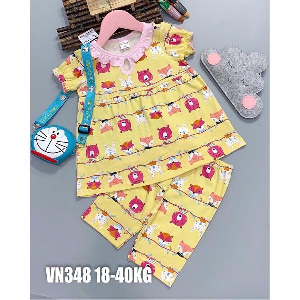 Đồ bộ dễ thương cho Bé Gái 18-40KG Chất liệu Cotton 4 chiều, Họa tiết đẹp.