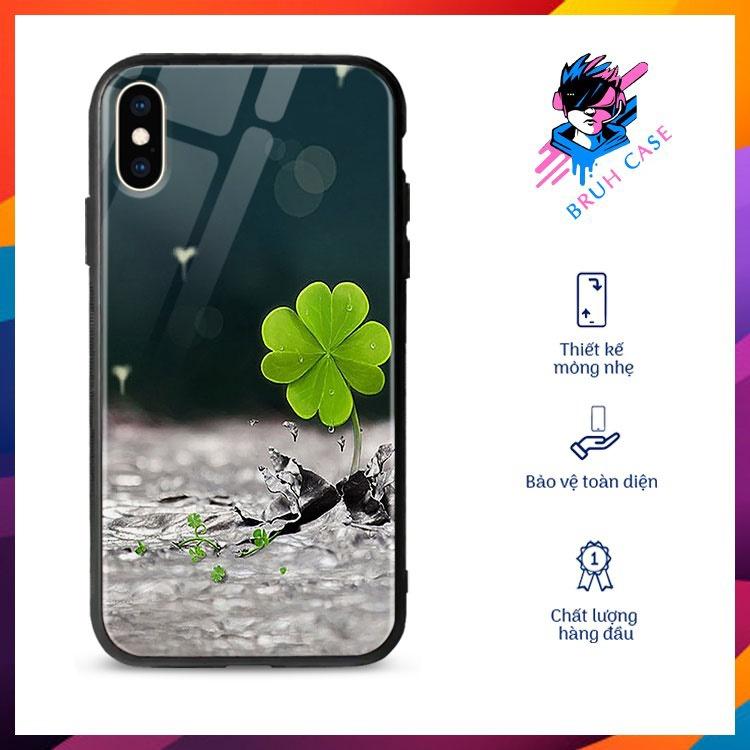 Ốp Đt Iphone 7 Plus Hình Cỏ 4 Lá BRUH CASE Từ 6 Đến 12 ProMax