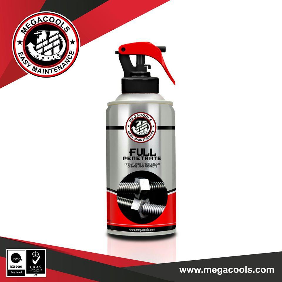 Combo chai vệ sinh sên Megacools 300ml và dưỡng sên, bảo dưỡng sên Megacools Chain Lube 300ml