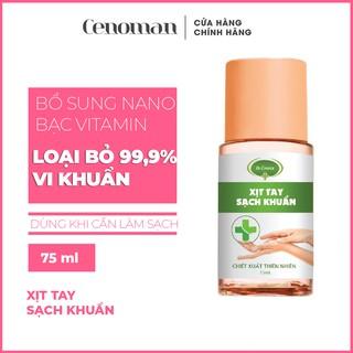 Xịt sát khuẩn Cenoman bảo vệ da tay 75ml loại bỏ 99,9% vi khuẩn, không gây khô da, mùi thơm tự nhiên thumbnail