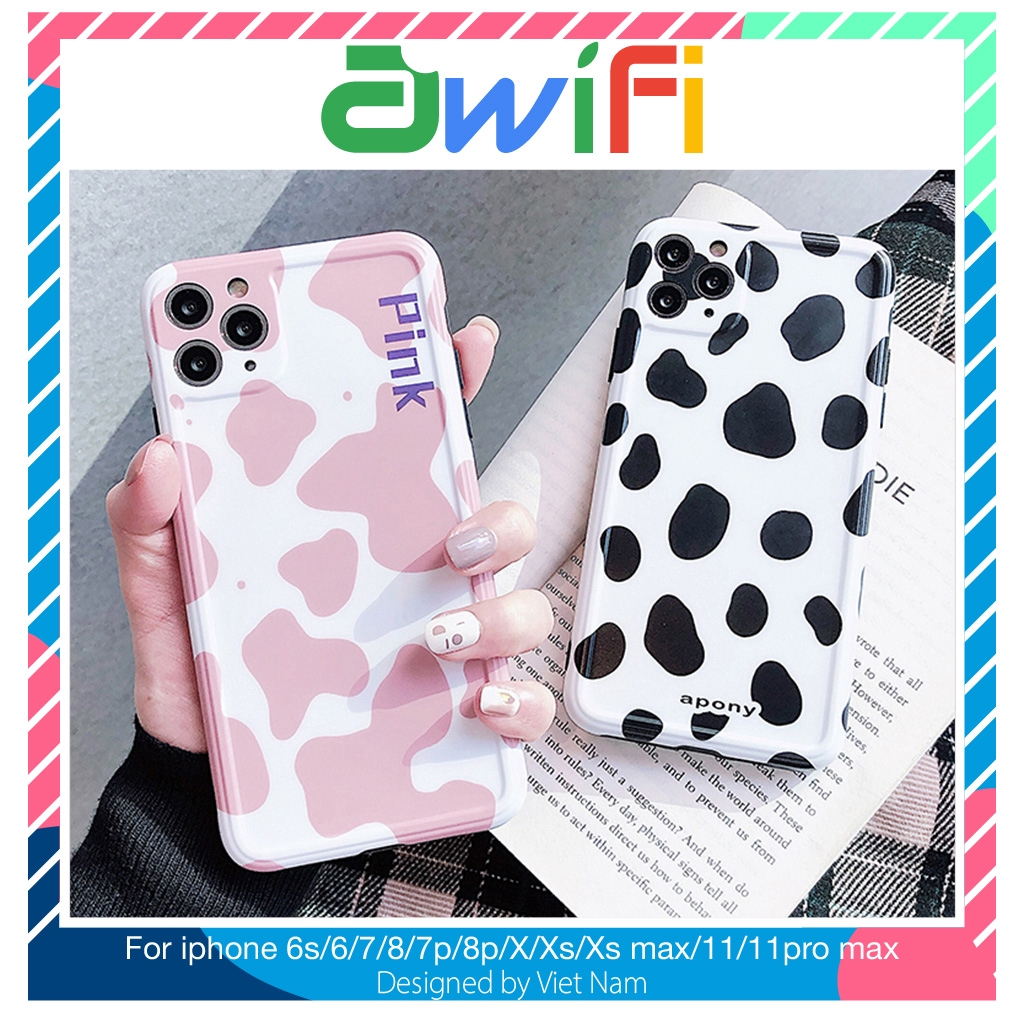 Ốp iphone - Ốp lưng imd new Họa tiết bò sữa 6/6s/6plus/6splus/7/8/7plus/8plus/x/xs/xsmax/11/11promax-Awifi Case Q3-8