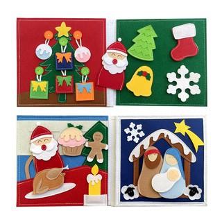 [Sách Vải Giặt Được] Sách Vải Đêm Giáng Sinh Vui Vẻ Dành cho bé mầm non từ 1 6 tuổi