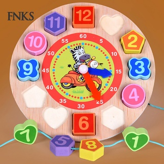 Đồng Hồ Gỗ 12 Chữ Số Nhiều Màu Sắc Cho Trẻ Em